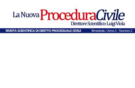 E' uscito il secondo numero de La Nuova Procedura Civile